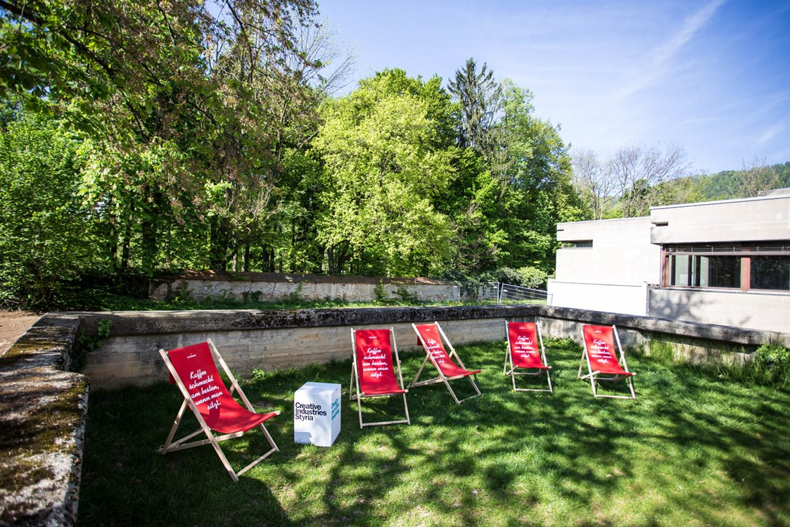 Coworking Space: Outdoor Area - AULA x space - Coworking Space Graz