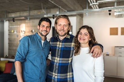 Coworking Space: collective.ruhr Team (v.l. Robert, Alex und Mimi) - collective.ruhr