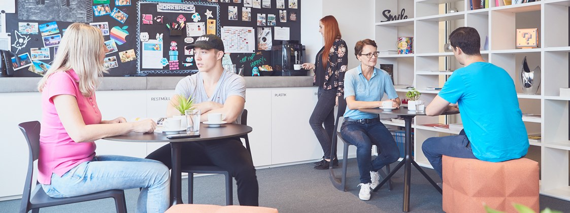 Coworking Space: WORKSPACE Wels: Kaffeeküche / Lobby - WORKSPACE Wels