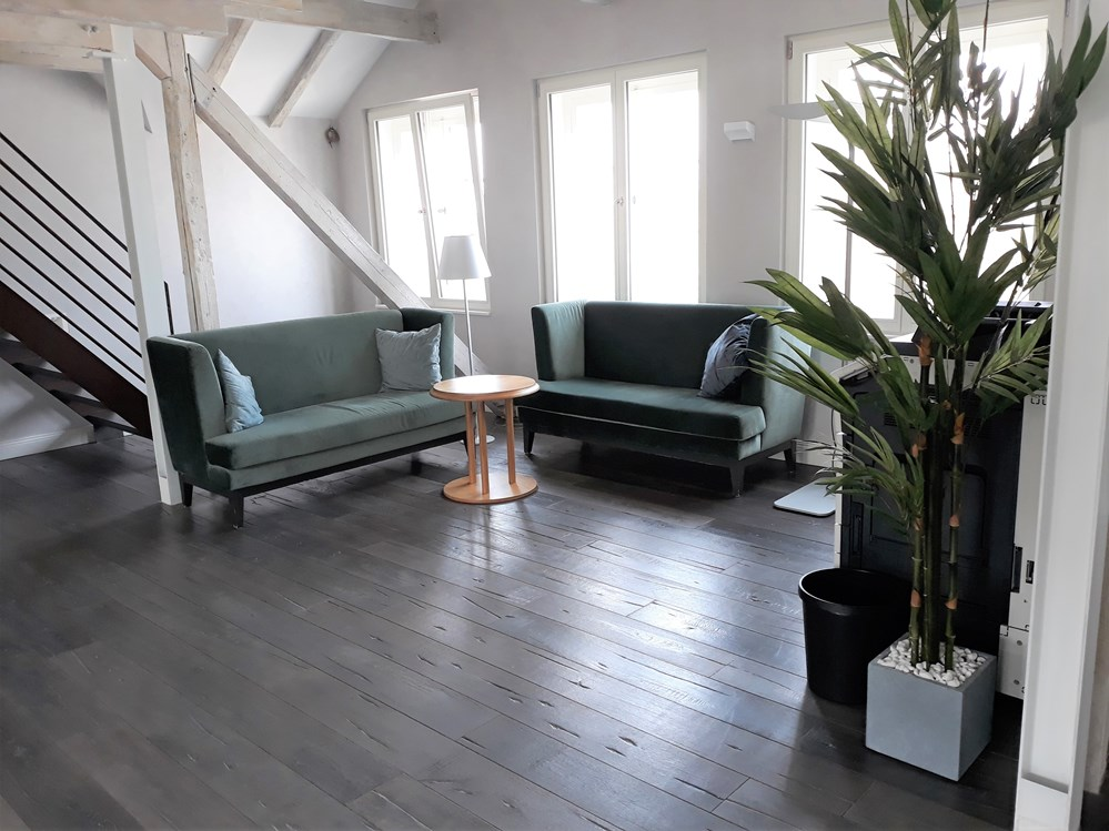 Coworking Space: Unsere Sofas im Lounge Bereich. Ultra bequem! - H4C Coworking